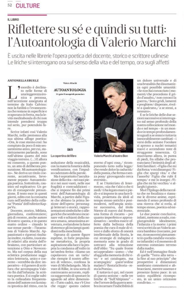 recensione Autoantologia su MV Sbuelz - 20.12.2020
